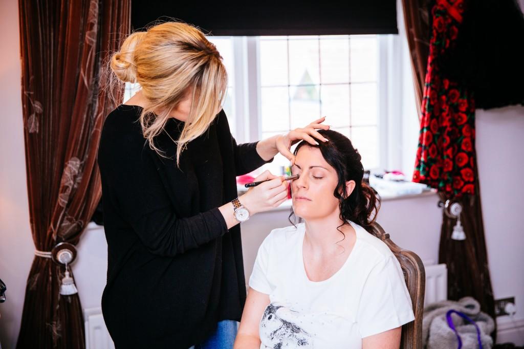 Kailee's Wedding Applying Makeup
