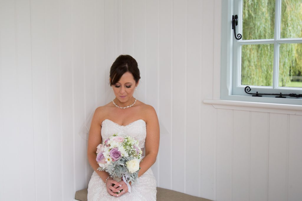 Carly With Bridal Bouquet
