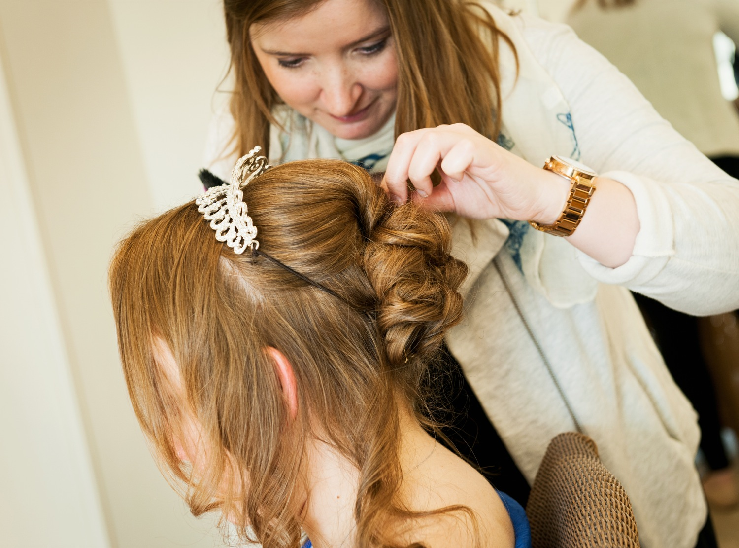 Natasha's Wedding Creating Bridal Hair