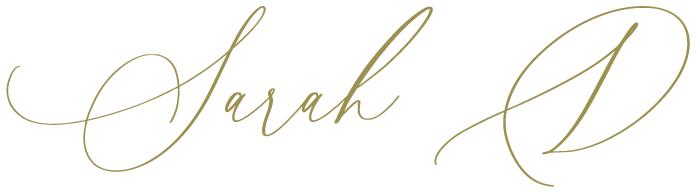 Sarah D Signature